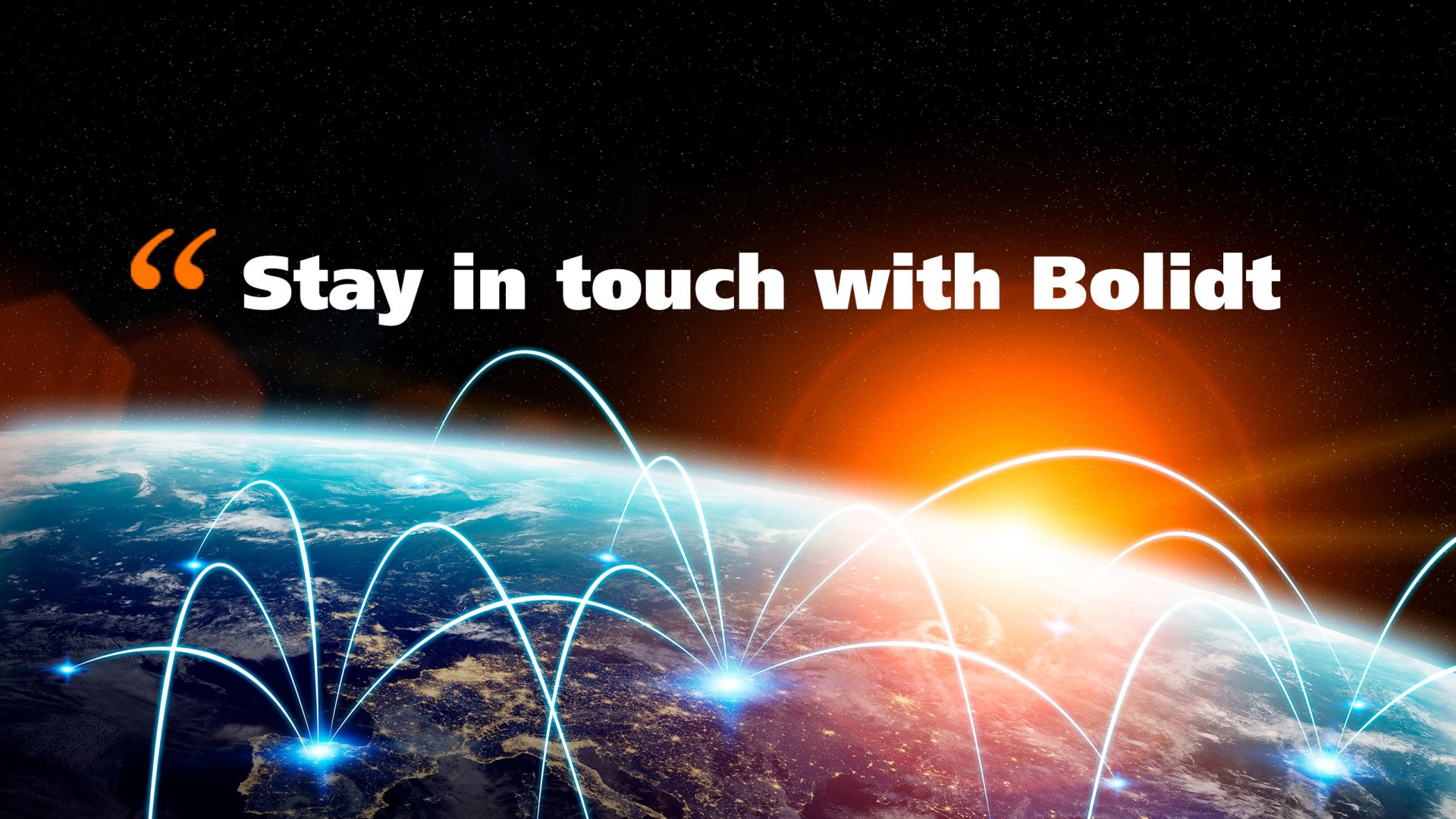 Header Stay in touch h Bolidt